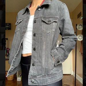Oversized Charcoal Jean Jacket